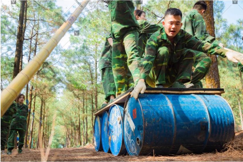 trò chơi team building quân đội