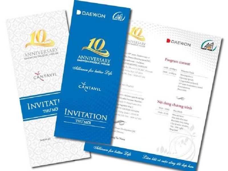 Thiệp mời kỷ niệm thành lập công ty 3